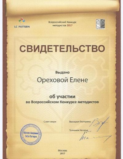 Е. Орехова - Конкурс методистов