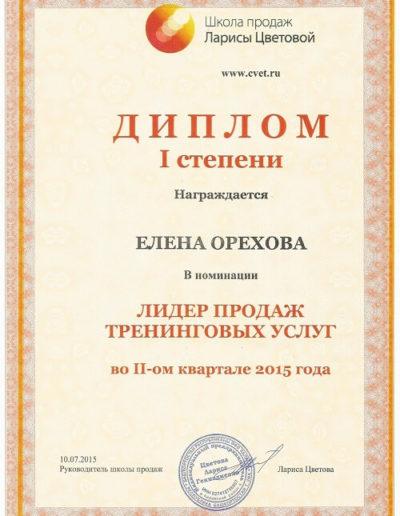 Е. Орехова - Лидер продаж