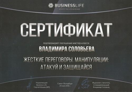 Е. Орехова - Мастер Класс В. Соловьева_Жесткие переговоры