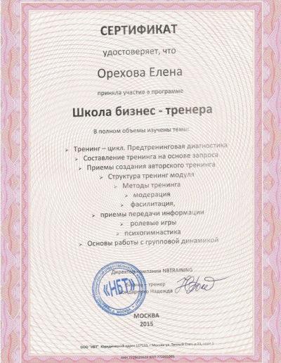 Е. Орехова - Школа бизнес тренера