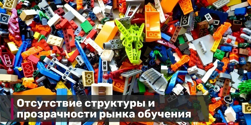1.Нет структуры и прозрачности на рынке обучения